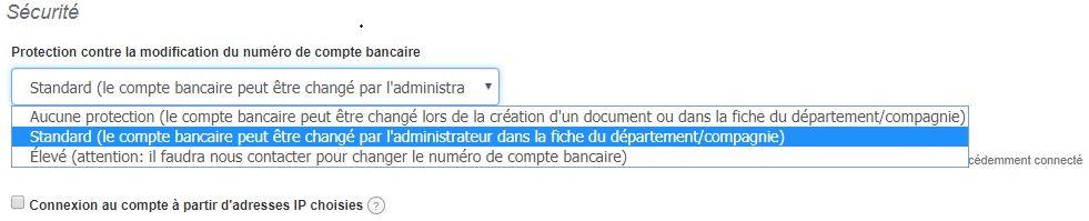 Niveaux Protection Modification Sécurité Compte Bancaire Facturation VosFactures