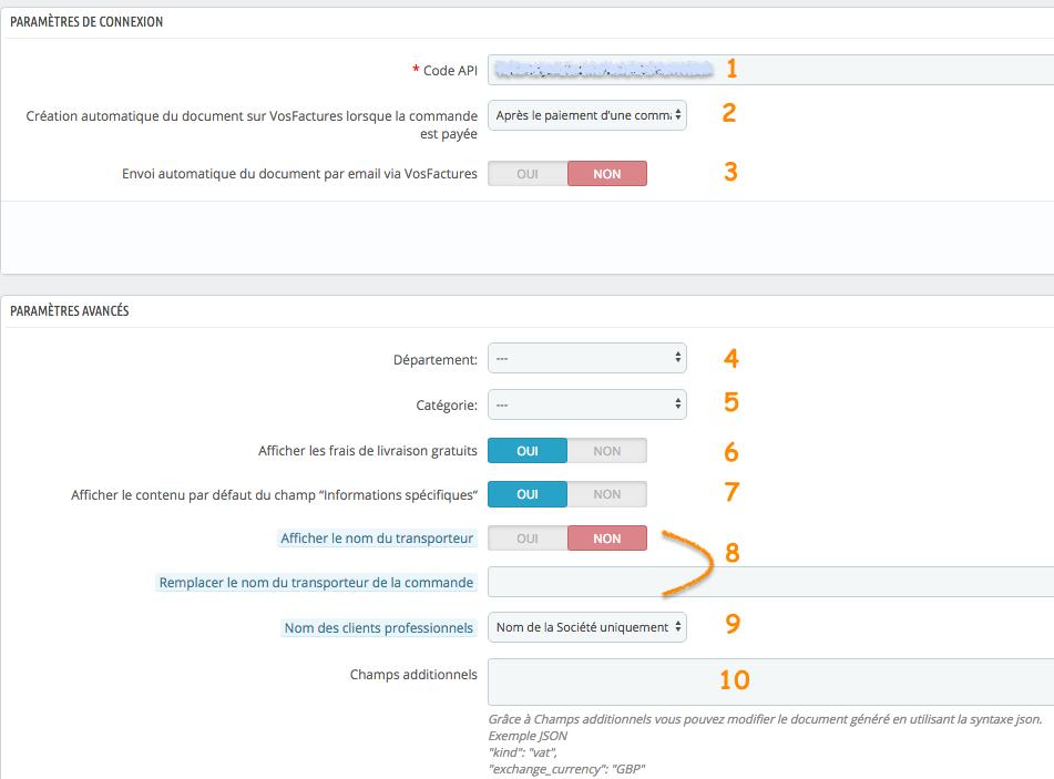 Configurer le Module Prestashop Addons Facturation