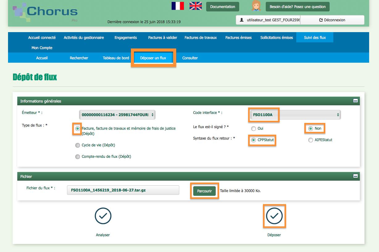 Facturation Chorus Administration Publique Export Comptabilité Débiteur