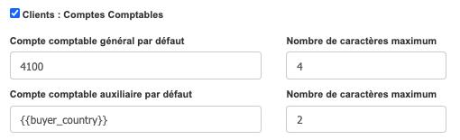 Factures & Exports - Automatiser Compte Comptable Général et Auxiliaire Client exemple