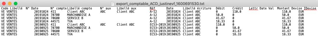 Export Factures Logiciel Comptable ACD
