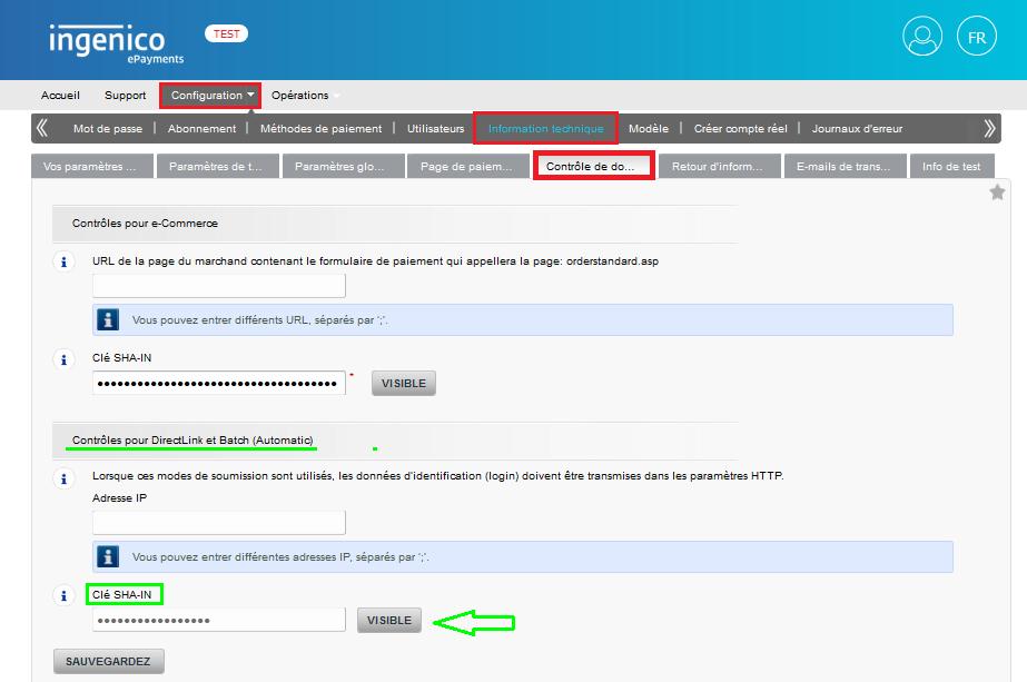 Facturation Intégration Ingenico ePayments VosFactures Ecommerce Configuration Compte