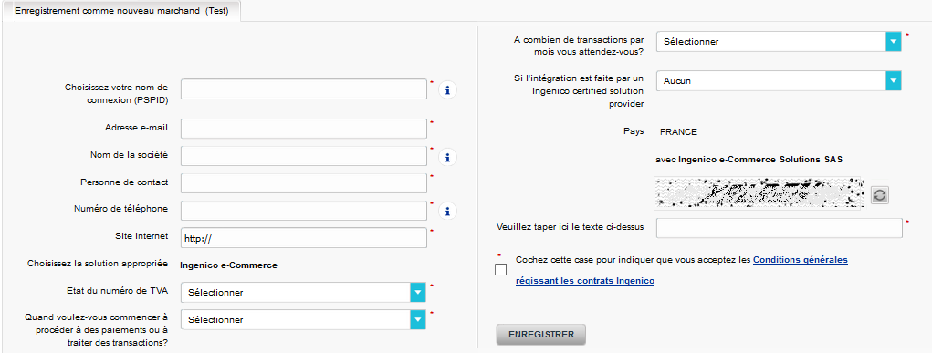 Facturation Intégration Ingenico ePayments VosFactures Ecommerce Compte