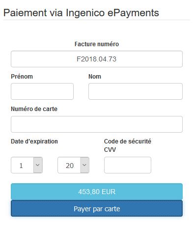 Facturation Intégration Ingenico ePayments Paiement en ligne