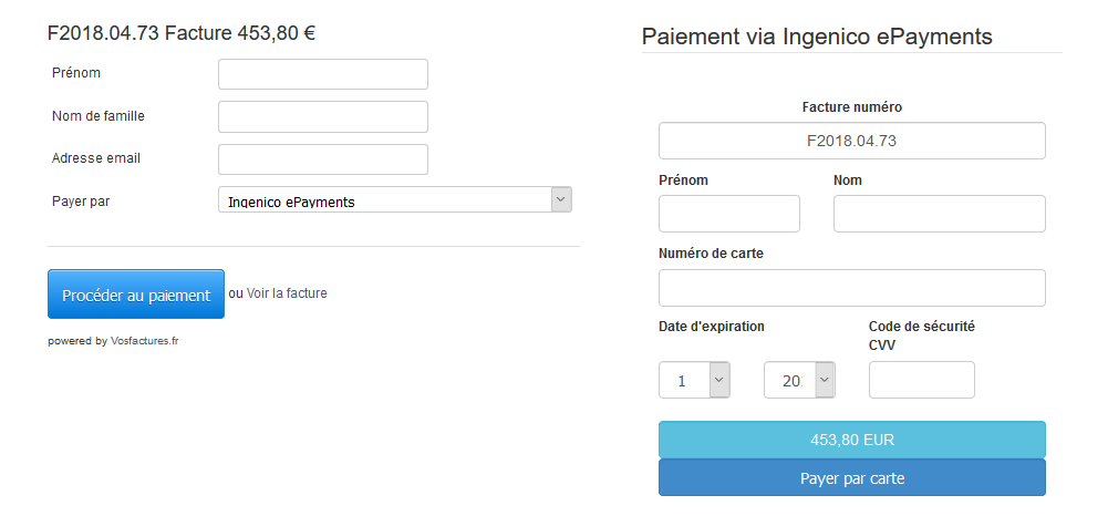 Facturation Intégration Ingenico ePayments VosFactures Ecommerce Payer Facile