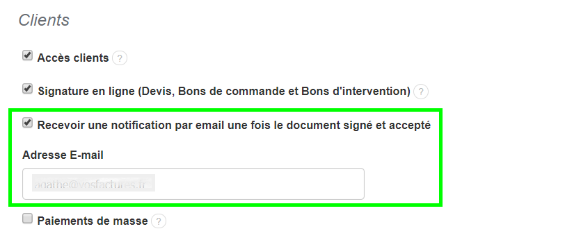 Mail Confirmation Signature En Ligne Facturation