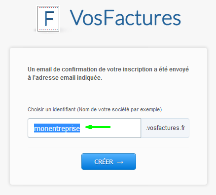Changement URL Confirmation Facturation VosFactures Identifiants