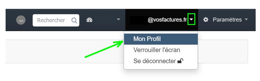 Profil Utilisateur  Compte Personnalisation Facture Facturation