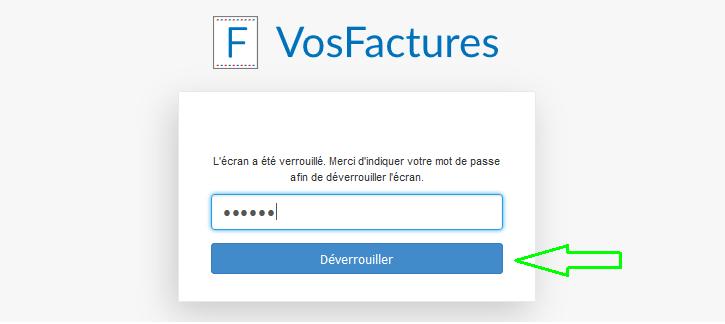 Sécurité Verrouillage Compte VosFactures Facturation