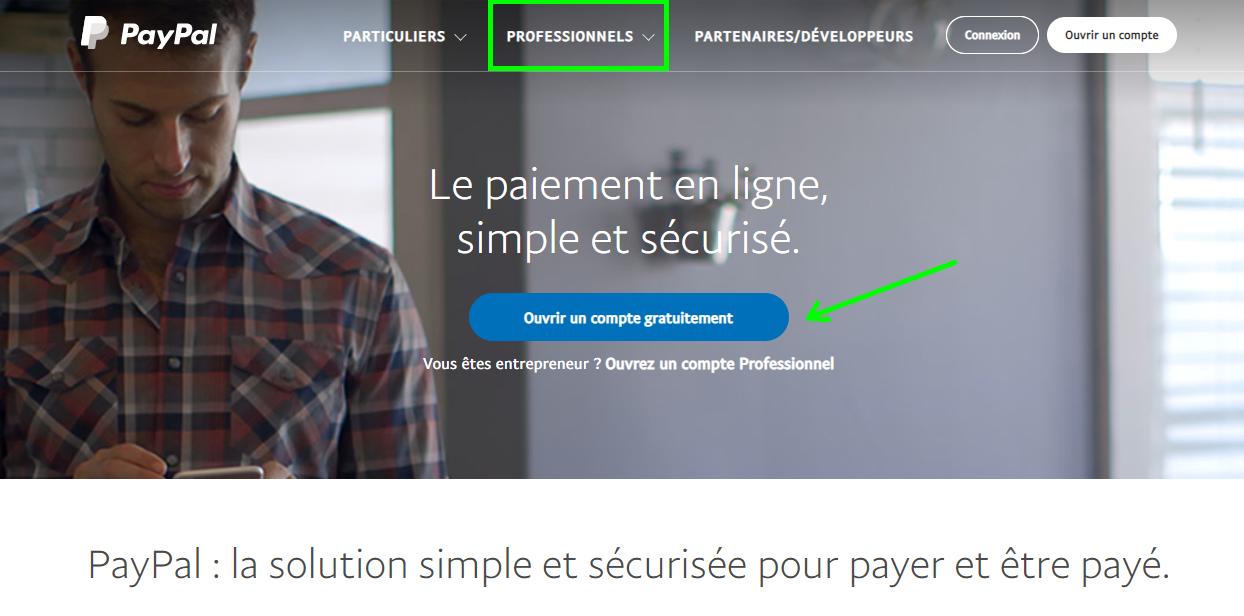 Facturation PayPal Paiement en Ligne Payer Facture Ecommerce Compte Professionnel