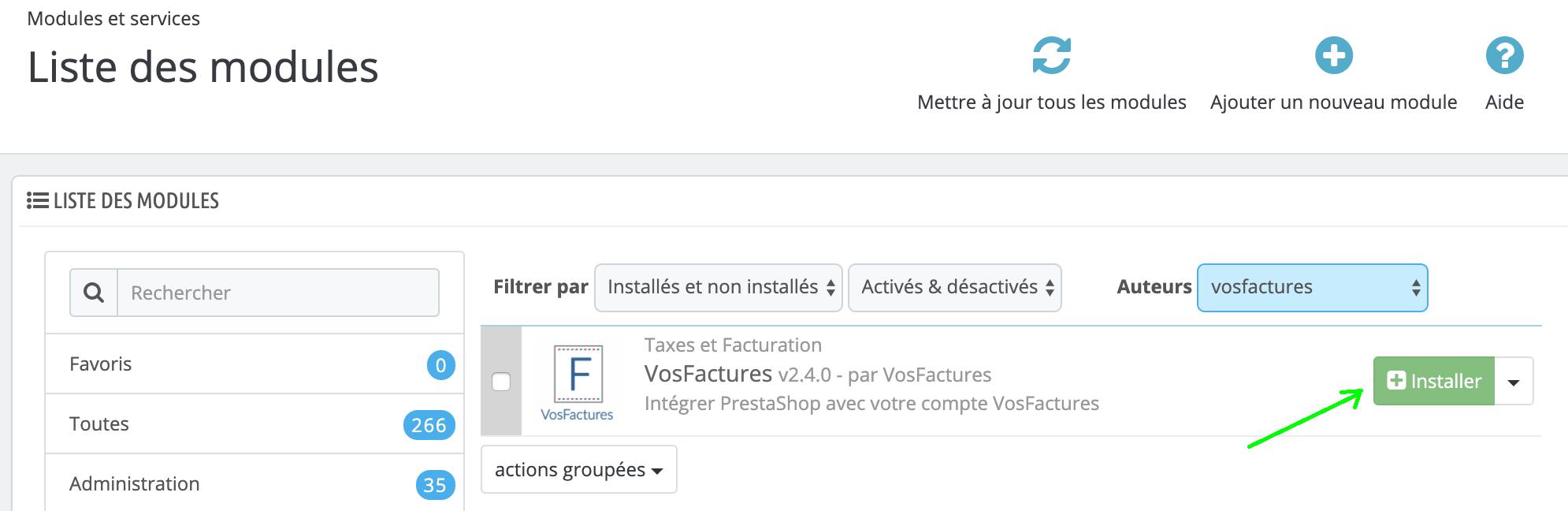 Module Addons Prestashop Facturation Installation Installer