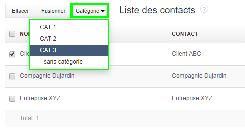 Facturation Catégorie Contact Client Fournisseur Revendeur Commercial