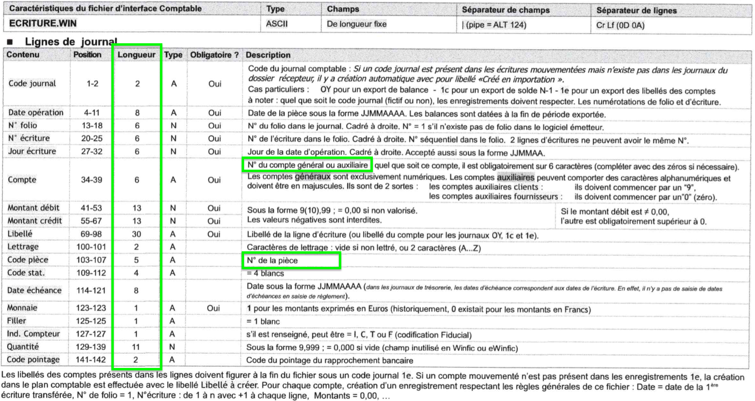 Exports Factures Importer dans eWinFic Comptabilité Description