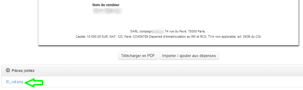 Pièces jointes à un Document Fonctionnalités Facturation VosFactures.fr