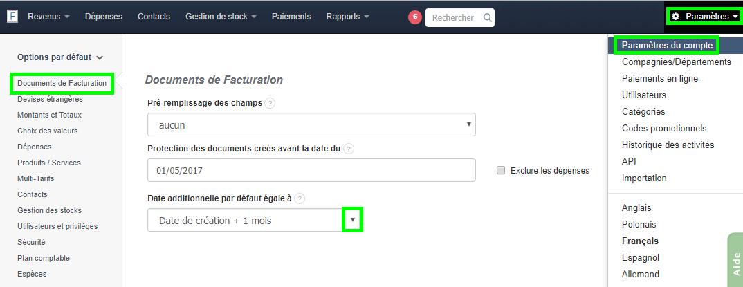 Automatiser Ajout Date Additionnelle Gain de Temps Calcul Automatiser Facturation VosFactures.fr