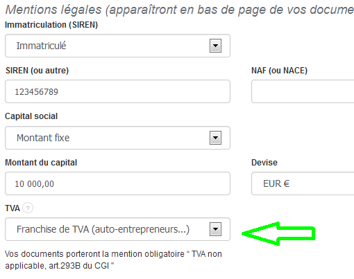 Facture Autoentrepreneur Mention Facturation Simple VosFactures Factures