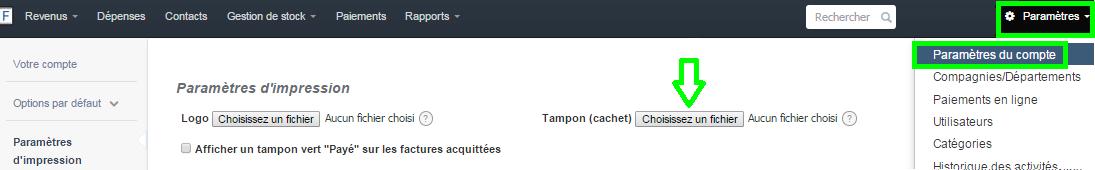 Ajouter Cachet Tampon Facture Cachet Entreprise Personnalisation VosFactures.fr