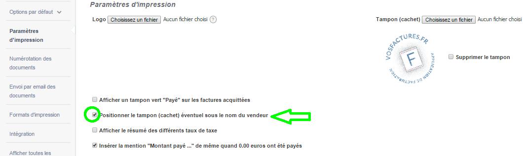 Cachet Tampon Facture Cachet Entreprise Personnalisation VosFactures.fr