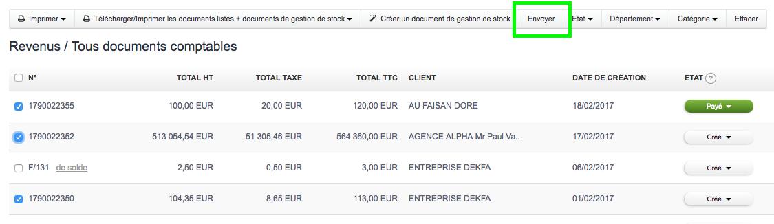 Envoyer Factures en Ligne Connecté Facturation Facile VosFactures.fr