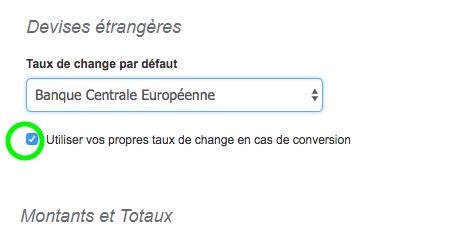 Conversion Automatique: Autre Taux