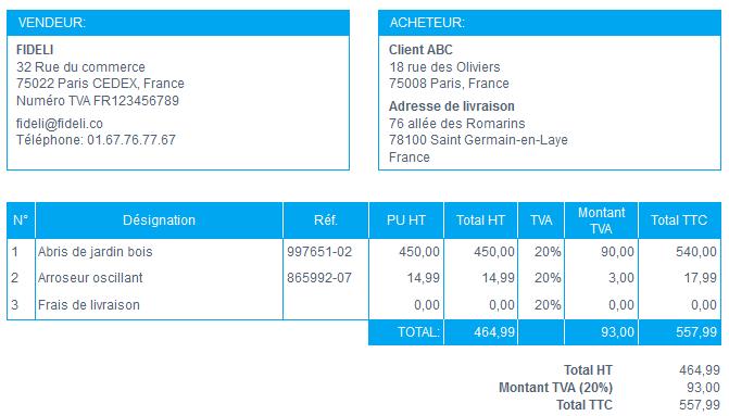 Supprimer Colonne Quantité Exemple Sans Facture VosFactures.fr