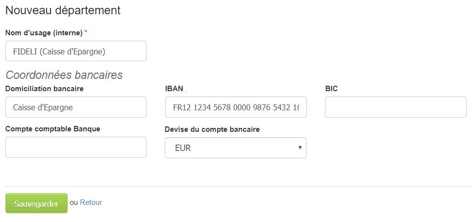 Facturation Compte Bancaire IBAN International Département Devise Etrangère