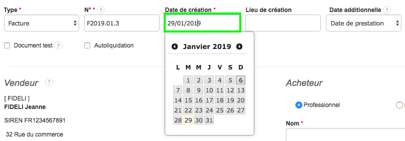 Flexibilité Tracabilité Verrouillage Date de creation Facturation VosFactures.fr