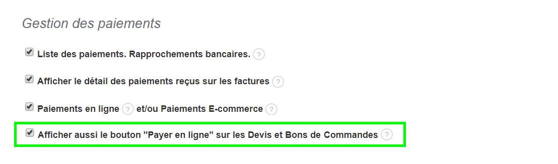 Ajout Bouton Payer en Ligne Cachet Entreprise Personnalisation VosFactures.fr