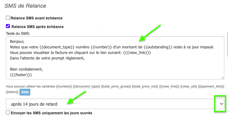 Logiciel Facturation Relance SMS Facture