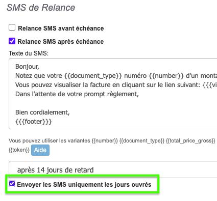 Logiciel Facture Relances SMS Automatique