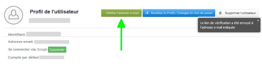 Vérification Email Compte VosFactures Facturation Factures Email