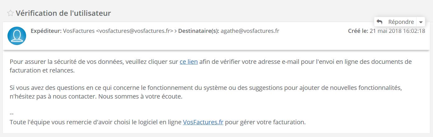 Vérification Utilisateur Authentification Facturation VosFactures