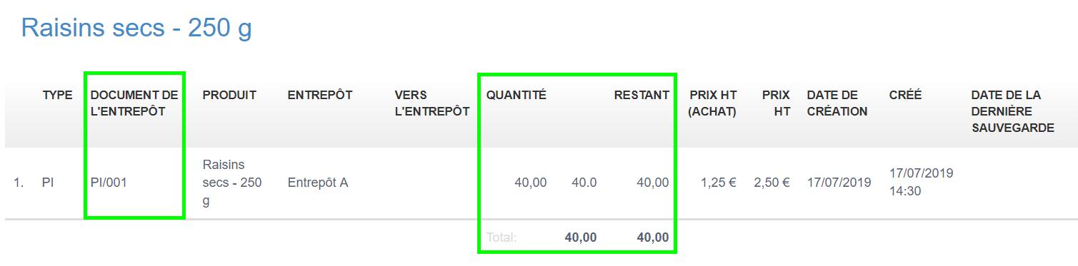 Gestion Stock Produit Reconditionnement Vente