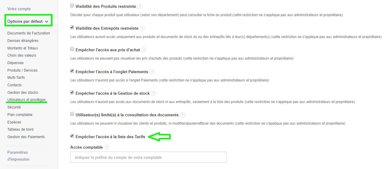 Facture Tarif Prix Produit Service
